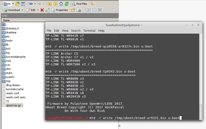 Pulpstone Uboot Writeable AR71xx   Pulpstone OpenWrt - LEDE